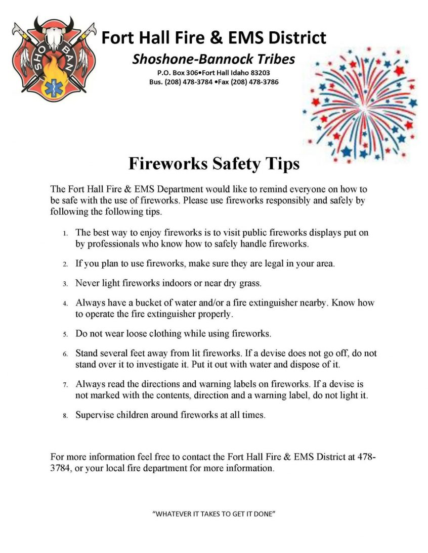 Fireworks Tips