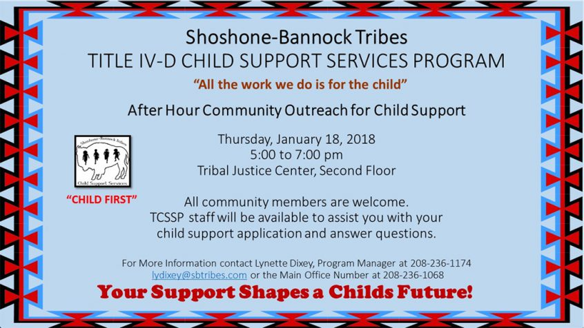 Shoshone-Bannock Tribes: Community Outreach for Child Support